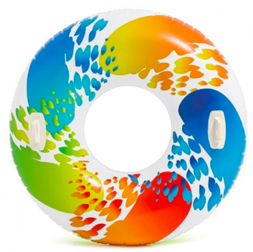 Kleurrijke zwemband 122cm