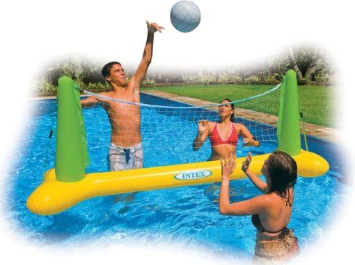 Opblaasbaar volleybalnet