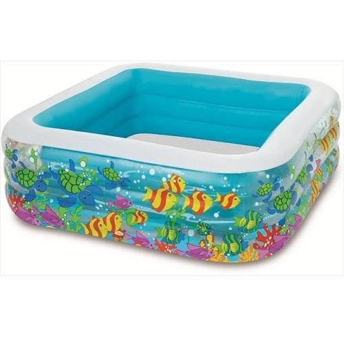 Zwembad vierkant aquarium for Opzet zwembad rechthoek
