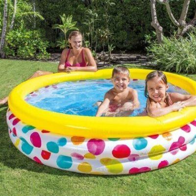 Opblaaszwembad kleurrijke Cirkels 2