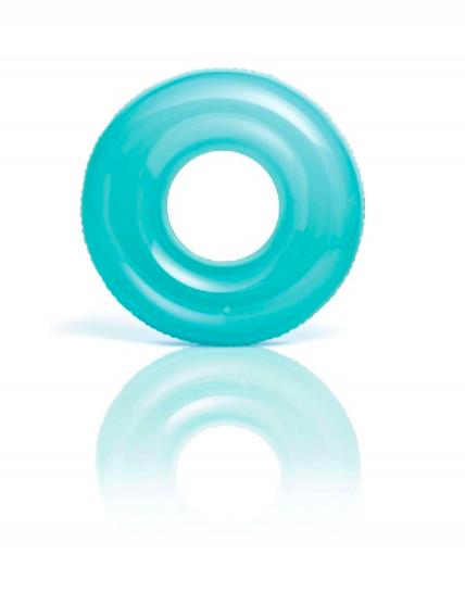 Transparante zwemband blauw
