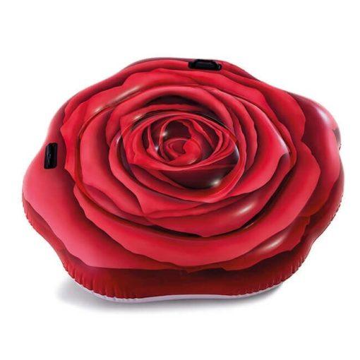 rode roos luchtbed zijkant