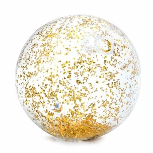 Gouden glitter strandbal