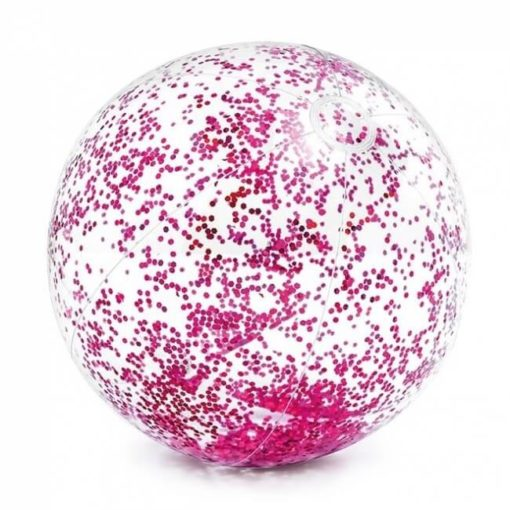 roze glitter strandbal