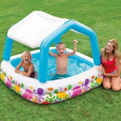 intex kinderzwembad met schaduw